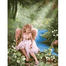 Картина-раскраска по номерам «Ангел у ручья» 40*50 см