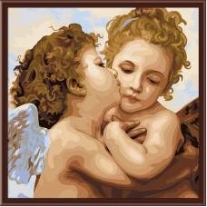 Картина-раскраска по номерам «Ангелы» 40*40 см