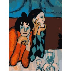 Картина-раскраска по номерам «Арлекин и его подружка» 40*50 см