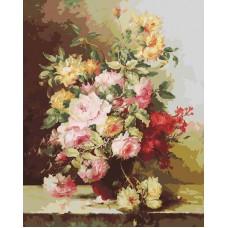Картина-раскраска по номерам «Букет Элегия» 40*50 см