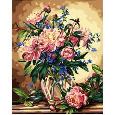 Картина-раскраска по номерам «Букет лесных цветов» 40*50 см