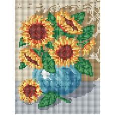 Алмазная мозаика «Букет подсолнухов» 18*24 см