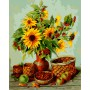 Картина-раскраска по номерам «Дачные подсолнухи» 40*50 см