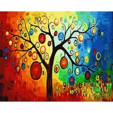 Картина-раскраска по номерам «Древо желаний» 40*50 см