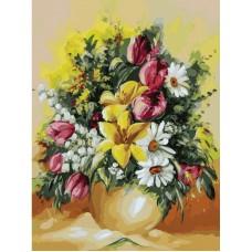 Картина-раскраска по номерам «Душистый букет» 30*40 см