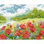 Картина-раскраска по номерам «Дыхание лета» 40*50 см