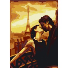 Картина-раскраска по номерам «Французский поцелуй» 40*50 см
