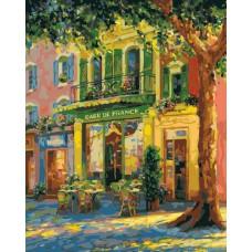 Картина-раскраска по номерам «Французское кафе» 40*50 см
