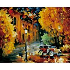 Картина-раскраска по номерам «Город» 40*50 см