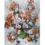 Картина-раскраска по номерам «Городские цветы» 40*50 см