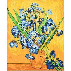 Картина-раскраска по номерам «Ирисы Ван Гог» 40*50 см