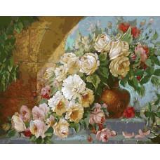 Картина-раскраска по номерам «Королевский букет» 40*50 см