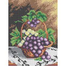 Алмазная мозаика «Корзинка с виноградом » 18*24 см