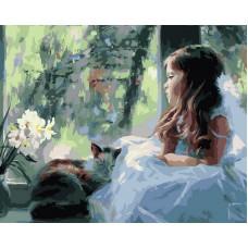 Картина-раскраска по номерам «Лапочка-дочка» 40*50 см