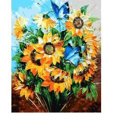 Картина-раскраска по номерам «Летний букет» 40*50 см