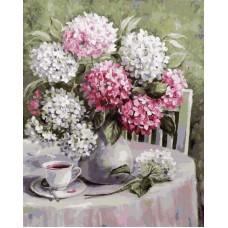 Картина-раскраска по номерам «Летний день. Цветы» 40*50 см
