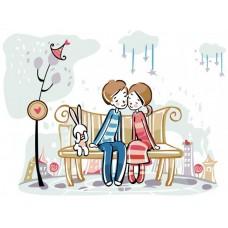 Картина-раскраска по номерам «Love» 30*40 см