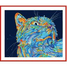 Картина-раскраска по номерам «Лунный кот» 30*40 см