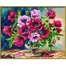 Картина-раскраска по номерам «Маки» 40*50 см