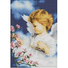 Алмазная мозаика «Малютка Ангел » 40*58 см