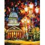 Картина-раскраска по номерам «Мерцание ночи Санкт-Петербурга» 40*50 см