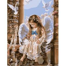 Картина-раскраска по номерам «Милый ангел» 40*50 см