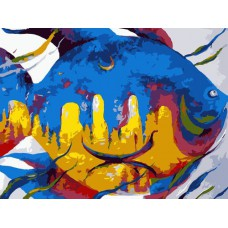 Картина-раскраска по номерам «Мираж городов» 30*40 см