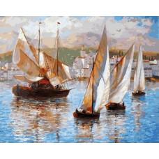 Картина-раскраска по номерам «Морская прогулка по Италии» 40*50 см