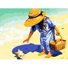 Картина-раскраска по номерам «Морские находки» 40*50 см