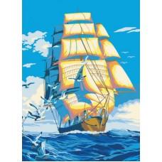 Картина-раскраска по номерам «Морское путешествие» 40*50 см