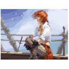 Картина-раскраска по номерам «Морской ветер» 40*50 см