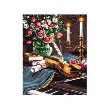 Картина-раскраска по номерам «Музыкальный натюрморт» 40*50 см