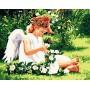 Картина-раскраска по номерам «Нежный ангел» 40*50 см