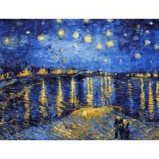 Картина-раскраска по номерам «Ночная романтика» 40*50 см