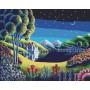 Картина-раскраска по номерам «Ночные отражения» 40*50 см