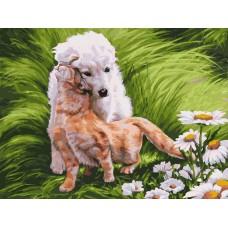 Картина-раскраска по номерам «Обожание» 30*40 см