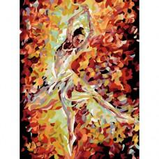 Картина-раскраска по номерам «Огонь свечи» 30*40 см