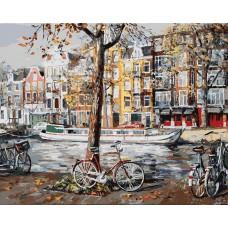Картина-раскраска по номерам «Осенний Амстердам» 40*50 см