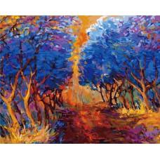 Картина-раскраска по номерам «Осенний лес» 40*50 см