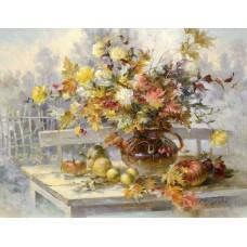 Картина-раскраска по номерам «Осенний букет» 40*50 см