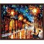 Картина-раскраска по номерам «Осенняя аллея» 40*50 см