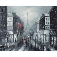 Картина-раскраска по номерам «Париж» 40*50 см