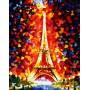 Картина-раскраска по номерам «Париж - огни Эйфелевой башни» 40*50 см