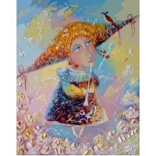 Картина-раскраска по номерам «Переливчатый трель» 40*50 см