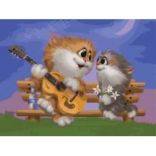 Картина-раскраска по номерам «Песни под гитару» 30*40 см