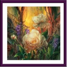 Картина-раскраска по номерам «Пион» 40*40 см