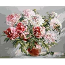 Картина-раскраска по номерам «Пионы» 40*50 см
