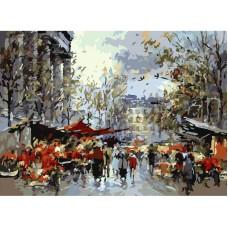 Картина-раскраска по номерам «Площадь Мадлен» 40*50 см