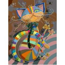 Картина-раскраска по номерам «Полосатый разбойник» 40*50 см