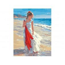 Картина-раскраска по номерам «Прогулка по берегу» 40*50 см
